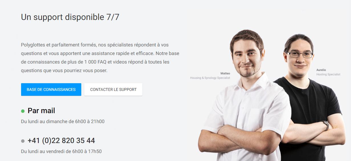 Infomaniak service client