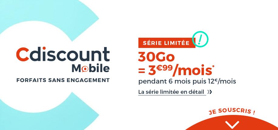 cdisount mobile 30go