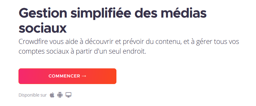 crowdfireapp commencer