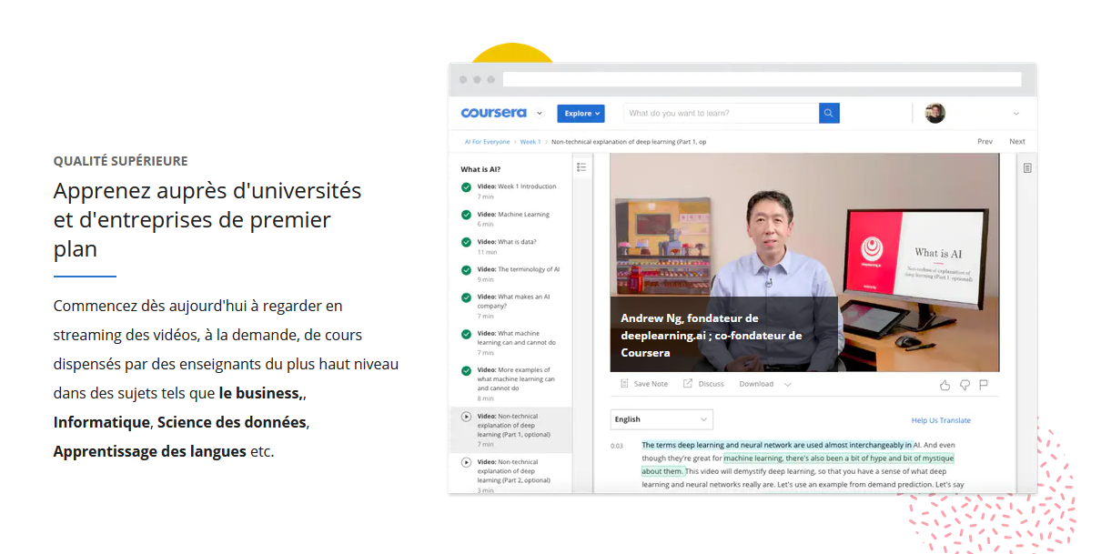 coursera cours visio