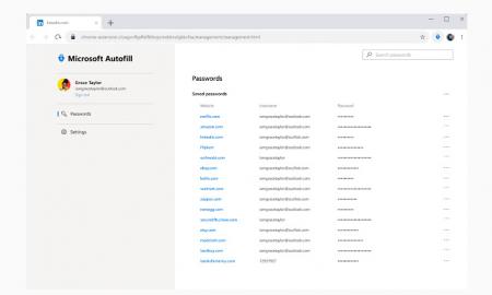 Microsoft autofill