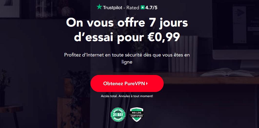 PureVPN offre