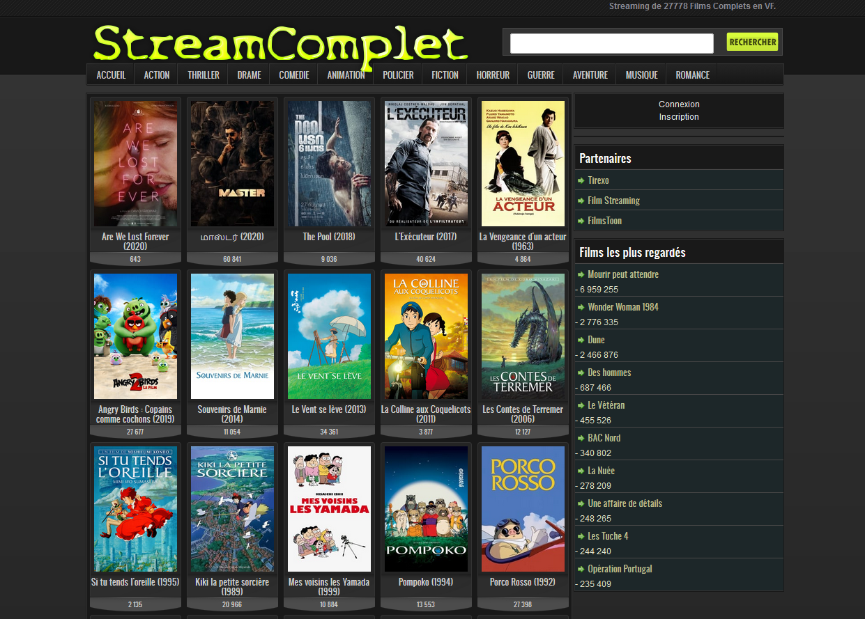 StreamComplet site