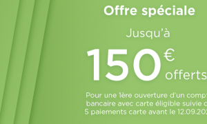 fortuneo banque 150e offerts
